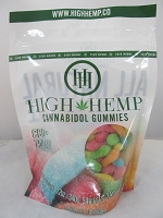High Hemp Cannabidol CBD Gummies 750mg (Sour Gummy Worms)