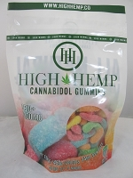 High Hemp Cannabidol CBD Gummies 1000mg (Sour Gummy Worms)