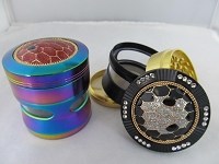 Turtle Shell 4 Part Windowed Grinder 63mm 1ct