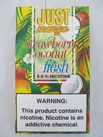 JUST Mango 5% 4ct PODS Strawberry Coconut Fresh