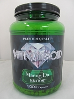 White Diamond Kratom Maeng Da 1000ct Jar