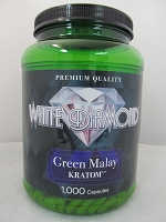 White Diamond Kratom Green Malay 1000ct Jar