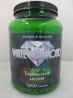 White Diamond Kratom Trainwreck 1000ct Jar