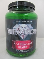 White Diamond Kratom Red Diamond 1000ct Jar