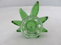 Green Leaf 14mm Glass Bowl