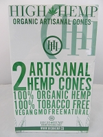 High Hemp Organic 2pk Artisanal Hemp Cones 15 Pouch Display
