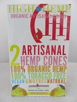 High Hemp Organic 2pk Artisanal Hemp Cones 15 Pouch Display (Hydro Lemonade)