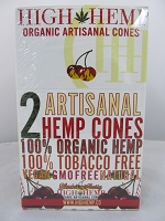 High Hemp Organic 2pk Artisanal Hemp Cones 15 Pouch Display (Blazin' Cherry)