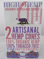 High Hemp Organic 2pk Artisanal Hemp Cones 15 Pouch Display (Bare Berry)
