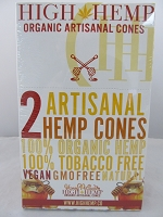 High Hemp Organic 2pk Artisanal Hemp Cones 15 Pouch Display (Honey Pot Swirl)