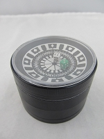 Black 63mm Roulette Wheel 4 Part Grinder 1ct