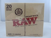 Raw Hemp Wick Rolls 20 ft / 6 meter 20 Rolls Display