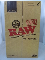 Raw Classic 98 Special Cones 1400ct Display