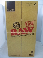 Raw Classic King Size Cones 1400ct Display