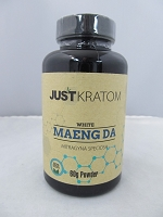 Just Kratom White Maeng Da 60gram Powder Jar