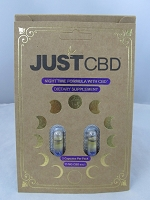 Just CBD Nighttime Formula Capsules 25mg 12ct Display