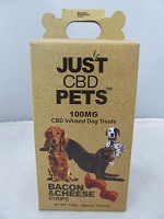 Just Pets CBD Infused Dog Treats 100mg (Bacon & Cheese Strips)