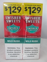 Swisher Sweet Cigarillos 2/$1.29 ~ 30ct Pouch (Wild Rush)
