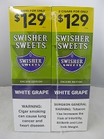 Swisher Sweet Cigarillos 2/$1.29 ~ 30ct Pouch (White Grape)
