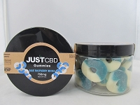 JUST CBD Gummies 750mg (Blue Raspberry Rings)