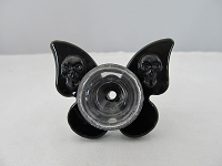 Large Black Butterfly & Skulls 14mm Bowl