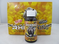 Rhino King Platinum 12K 2oz Male Enhancement Shot 12ct Display