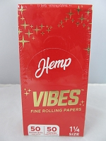 Vibes Fine Rolling Paper 1-1/4 Hemp 50 Papers 50 Booklet Display
