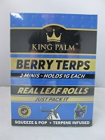 King Palm Berry Terps Mini Rolls 2pk, 20ct Display