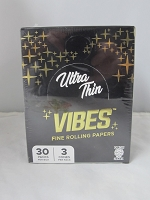 Vibes Fine Rolling Paper 1-1/4  Ultra Thin Cones 6 Cone 30 Pack Display