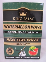 King Palm Watermelon Wave Slim Rolls 2pk, 20ct Display