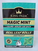 King Palm Magic Mint Slim Rolls 2pk, 20ct Display