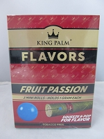 King Palm Fruit Passion Mini Rolls 2pk, 20ct Display