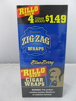 Zig Zag Rillo Size 4 For $1.49 15ct Display (Blueberry)