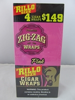 Zig Zag Rillo Size 4 For $1.49 15ct Display (Pink)