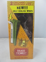 Crop Kingz Premium Organic Wraps 15ct Display (Brass Monkey)