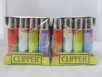 Clipper Refillable Lighter Flower 48ct Display