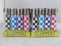 Clipper Refillable Lighter Race Track 48ct Display