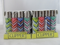 Clipper Refillable Lighter Wave 48ct Display