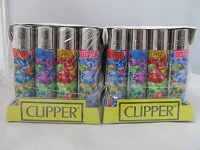Clipper Refillable Lighter Skulls 48ct Display