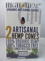 High Hemp Organic 2pk Artisanal Hemp Cones 15 Pouch Display (Grapeape)