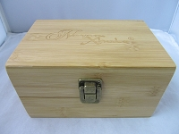Never Xhale Bamboo Stash Storage Box w/ Latch 6.3