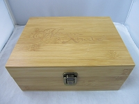 Never Xhale Bamboo Stash Storage Box w/ Latch 8.2
