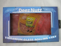 Deez Nutz 6 Inch X 10 Inch Shatter-Proof Glass Rolling Tray