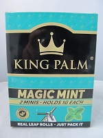 King Palm Magic Mint Mini Rolls 2pk, 20ct Display