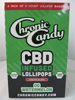 Chronic Candy CBD Lollipop 36ct Display 30mg CBD Per Pop (OG Watermelon) *NEW*