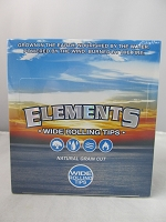Elements Wide Rolling Tips Natural Grain Cut 50ct