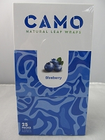 CAMO Natural Leaf Wraps by Afghan Hemp 25ct (Blueberry)