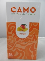 CAMO Natural Leaf Wraps by Afghan Hemp 25ct (Mango)