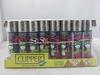 Clipper Refillable Lighter Zombie Masks 48ct Display