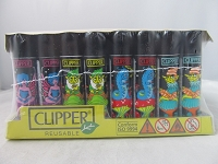 Clipper Refillable Lighter Psychedelic 14 48ct Display